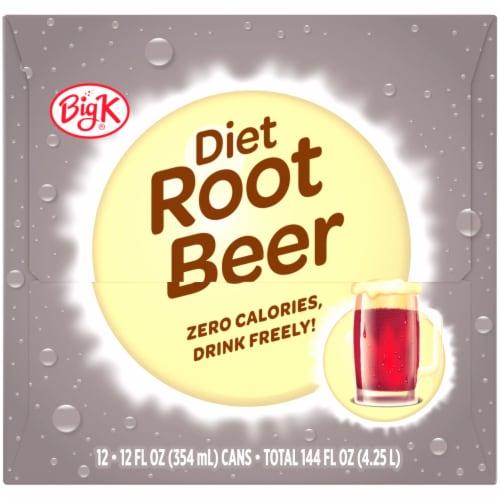 Big K® Diet Root Beer Perspective: left