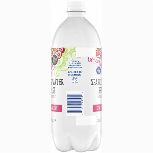 Kroger® Kiwi Strawberry Sparkling Water Perspective: left