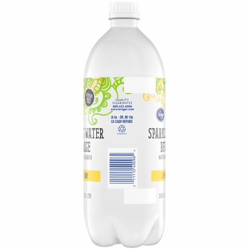 Kroger® Lemon Lime Sparkling Water Perspective: left