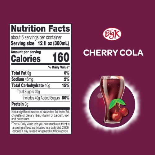 Big K® Cherry Cola Perspective: left