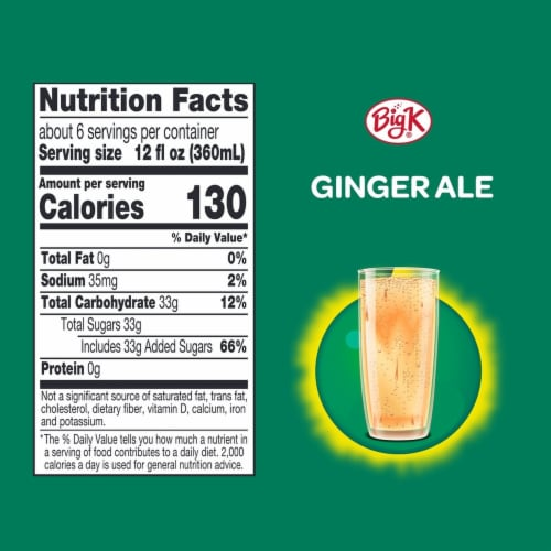 Big K® Ginger Ale Soda Perspective: left