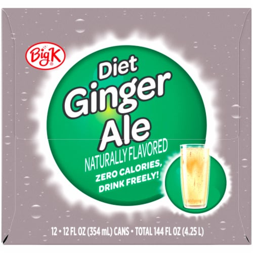 Big K® Diet Ginger Ale Perspective: left