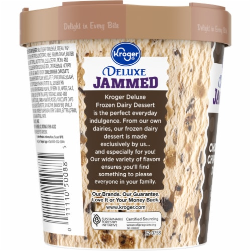 Kroger® Deluxe Jammed Chocolate Chip Cookie Dough Ice Cream Perspective: left