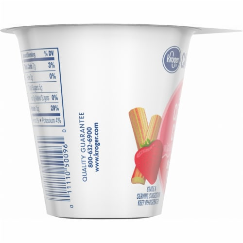 Kroger® CarbMaster™ Strawberry Rhubarb Low Fat Cottage Cheese Perspective: left