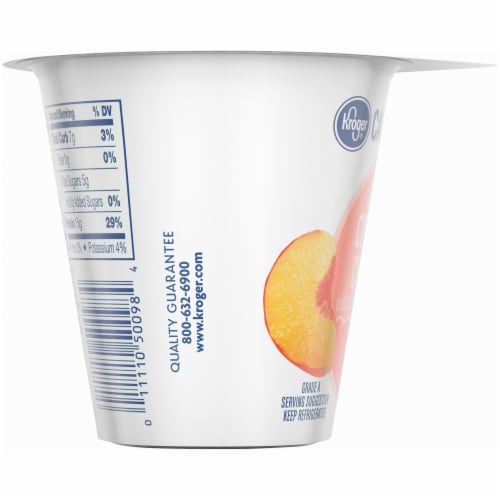 Kroger® CarbMaster™ Peach Low Fat Cottage Cheese Perspective: left