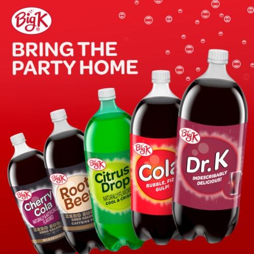 Big K® Diet Drop Red Soda Perspective: left