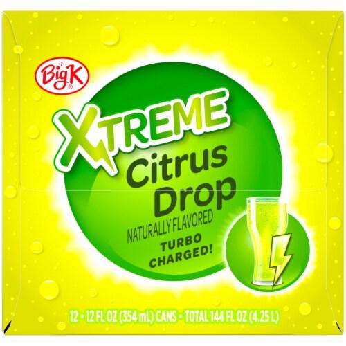 Big K® Xtreme Citrus Drop Soda Perspective: left
