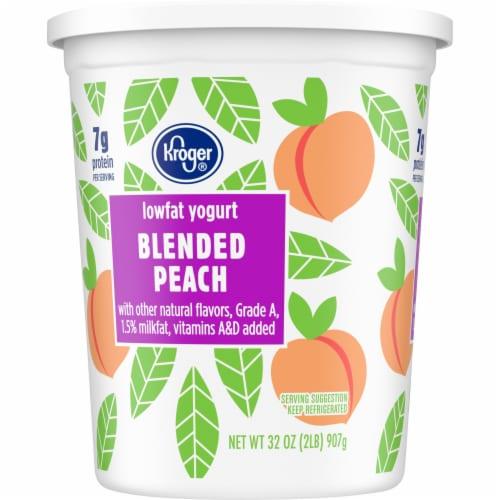 Kroger® Blended Peach Lowfat Yogurt Perspective: left