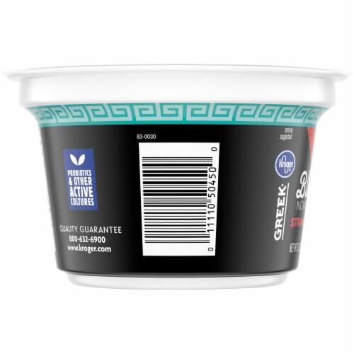 Kroger® Blended Strawberry Flavor Nonfat Greek Yogurt Perspective: left