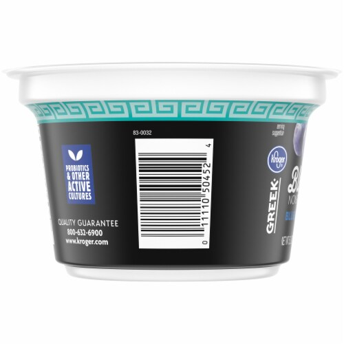 Kroger® Blended Blueberry Flavor Nonfat Greek Yogurt Perspective: left