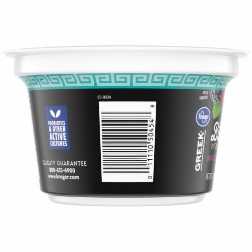 Kroger® Mixed Berry Blended Nonfat Greek Yogurt Perspective: left
