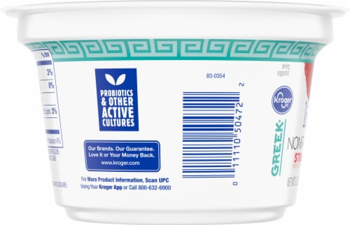 Kroger® Strawberry Light Nonfat Greek Yogurt Perspective: left