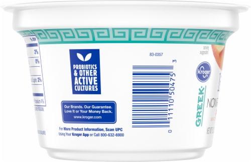 Kroger® Peach Light Nonfat Greek Yogurt Perspective: left