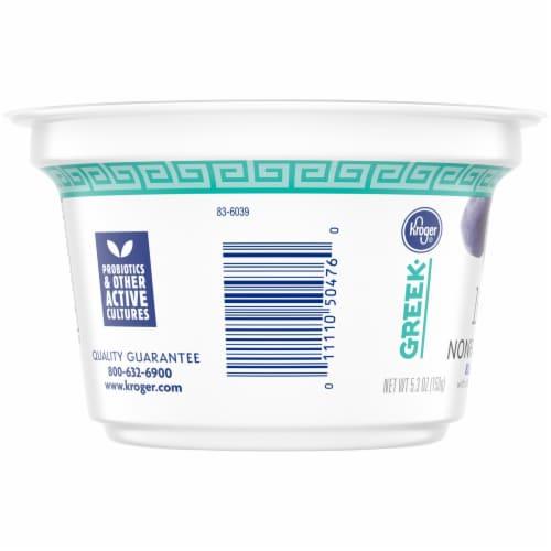 Kroger® Light Blueberry Nonfat Greek Yogurt Perspective: left