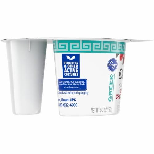 Kroger® Delight Raspberry Chocolate Chip Lowfat Greek Yogurt Perspective: left
