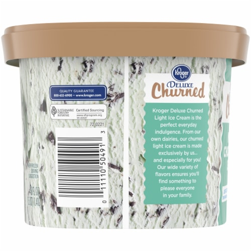 Kroger® Deluxe Churned Mint Chocolate Chip Light Ice Cream Perspective: left