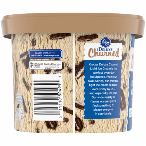 Kroger® Deluxe Cookies & Cream Churned Light Ice Cream Perspective: left
