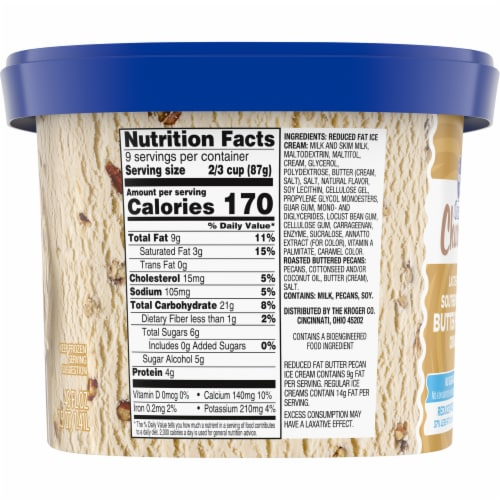 Kroger® Deluxe Churned Lactose Free Southern Crunch Butter Pecan Ice Cream Perspective: left