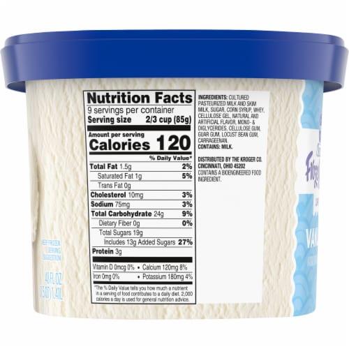 Kroger® Deluxe Lowfat Vanilla Frozen Yogurt Perspective: left