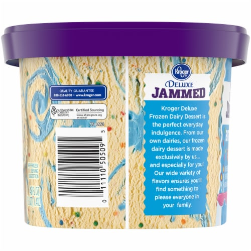 Kroger® Deluxe Jammed Birthday Bash Ice Cream Perspective: left