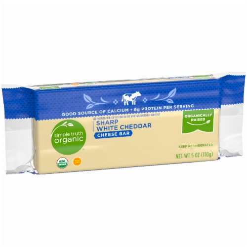 Simple Truth Organic® Sharp White Cheddar Cheese Bar Perspective: left