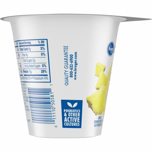 Kroger® CarbMaster™ 2% Low Fat Pineapple Cottage Cheese Perspective: left