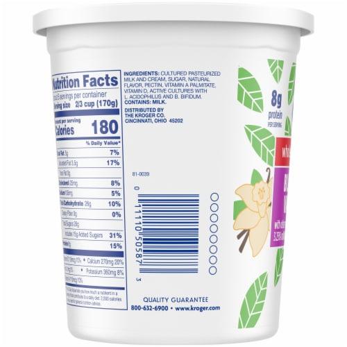 Kroger® Whole Milk Blended Vanilla Yogurt Perspective: left