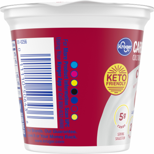 Kroger® CarbMaster® Gluten Free Cherry Lowfat Yogurt Perspective: left
