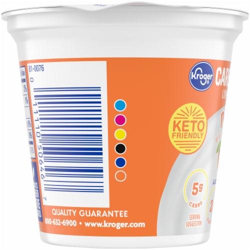 Kroger® CarbMaster® Peach Cultured Dairy Blend Perspective: left