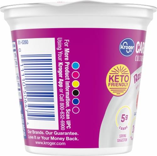 Kroger® CarbMaster® Raspberry Cultured Dairy Blend Yogurt Perspective: left