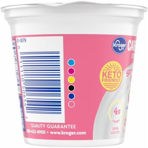 Kroger® CarbMaster® Strawberry Banana Cultured Dairy Blend Yogurt Perspective: left