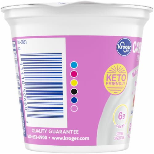 Kroger® CarbMaster® White Chocolate Raspberry Flavored Low Fat Yogurt Perspective: left