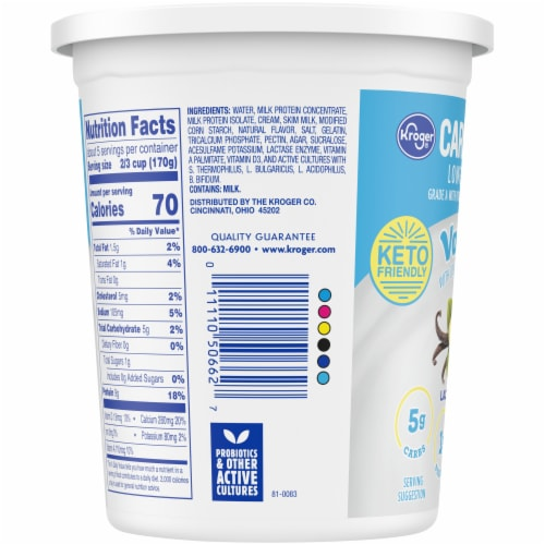 Kroger® CarbMaster® Vanilla Cultured Dairy Blend Perspective: left