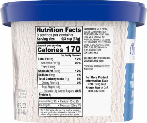 Kroger® Deluxe Artisan Vanilla Bean Ice Cream Perspective: left