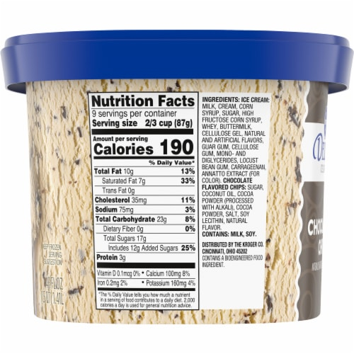 Kroger® Deluxe Chocolate Chip Ice Cream Perspective: left