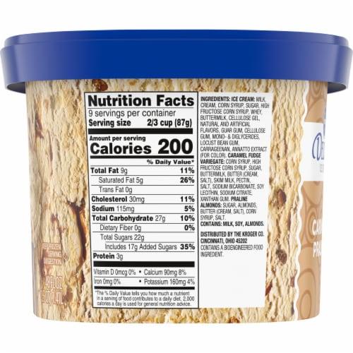 Kroger Deluxe Caramel Praline Ice Cream Perspective: left