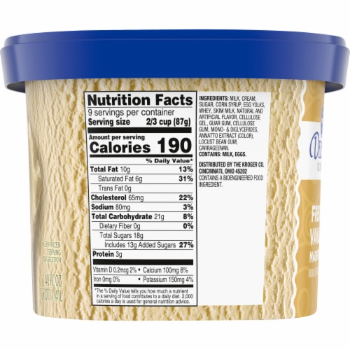 Kroger® Deluxe French Vanilla Magnifique Ice Cream Perspective: left