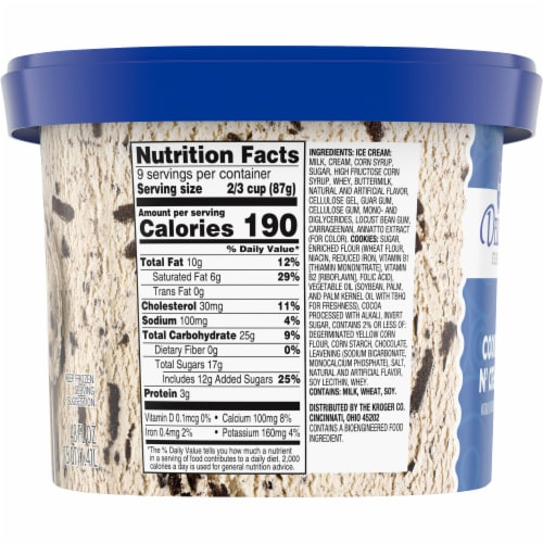 Kroger® Deluxe Cookies N' Cream Ice Cream Perspective: left