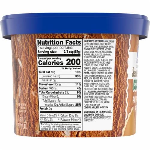 Kroger® Deluxe Season's Best Pumpkin Pie Ice Cream Perspective: left