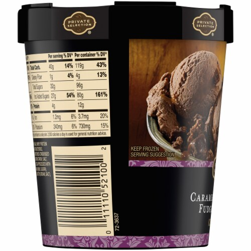Private Selection® Caramel Hazelnut Fudge Truffle Ice Cream Perspective: left