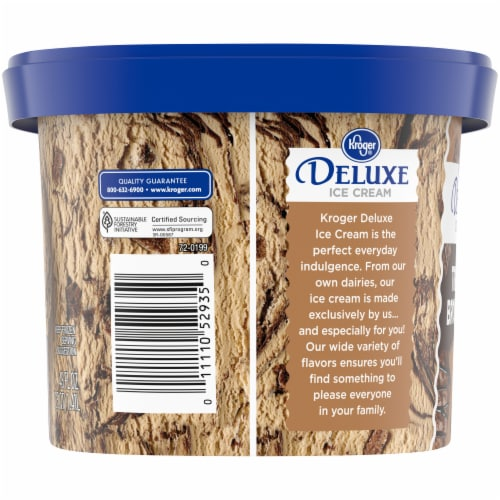 Kroger Deluxe Triple Brownie Ice Cream Perspective: left