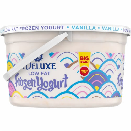 Kroger® Vanilla Low Fat Frozen Yogurt Family Size Perspective: left
