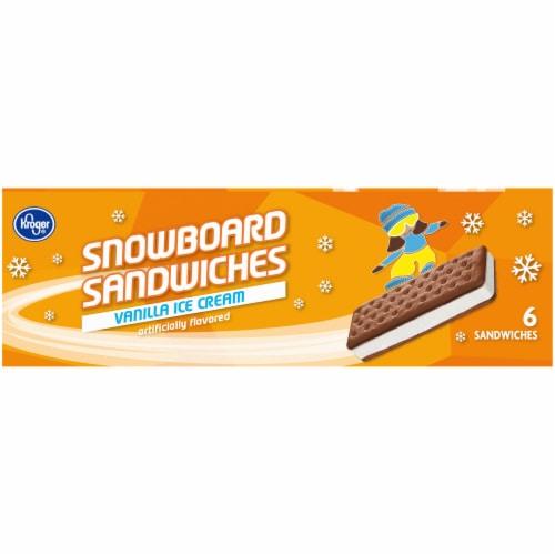 Kroger® Snowboard Vanilla Ice Cream Sandwiches Perspective: left