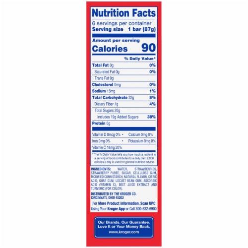 Kroger® Strawberry Fruit Bars Perspective: left