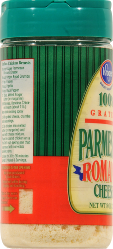 Kroger® Grated Parmesan Romano Cheese Perspective: left