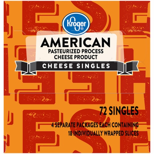 Kroger® American Cheese Singles 72 Count Package Perspective: left