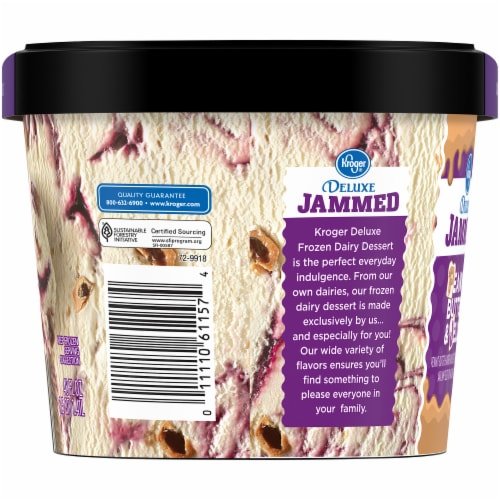 Kroger® Deluxe Jammed Peanut Butter & Jelly Ice Cream Perspective: left