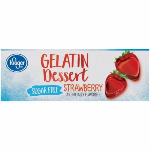 Kroger® Sugar Free Strawberry Flavored Gelatin Dessert Perspective: left