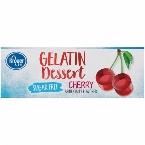 Kroger® Sugar Free Cherry Flavored Gelatin Dessert Perspective: left