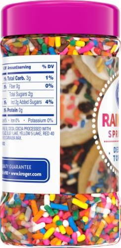 Kroger® Rainbow Sprinkles Dessert Topping Perspective: left